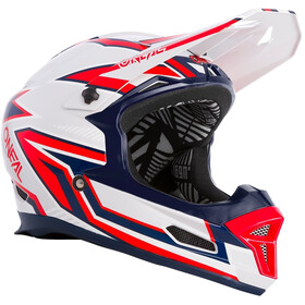 O'Neal Fury Helm Rapid, silver/red